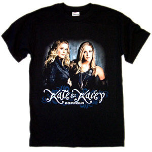 Kate and Kacey Black Tee
