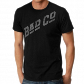 Bad Company <b>Organic</b> Black Tee- Grey Logo